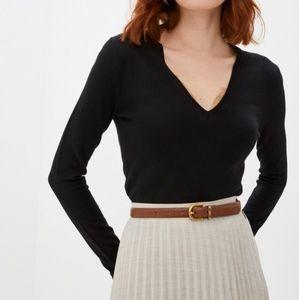BURBERRY |Extra Fine Merino Wool Long Sleeve VNeck